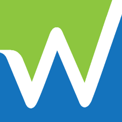 Blue and Green W Logo